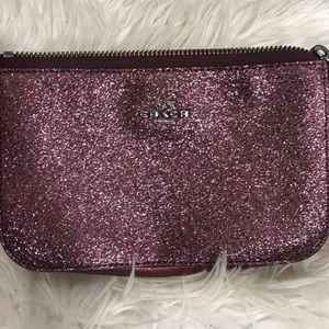 Coach mini purse rose color sparkle